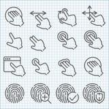 Vektorlinje symbolsuppsättning Arkivbild