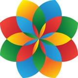 Vektorlogo colorfull Stockbilder