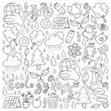 Vektorlogo, design och emblem i moderiktig dra stil - noll avfallsbegrepp, ?teranv?nd och ?teranv?nda, f?rminska - ekologisk livs stock illustrationer