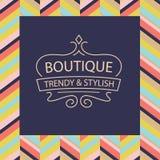 Vektorlogo för boutiquekläder, tillbehör, smycken royaltyfri illustrationer