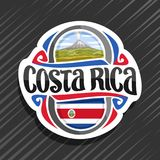 Vektorlogo för Costa Rica vektor illustrationer