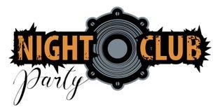 Vektorlogo för en nattklubb med högtalaren vektor illustrationer