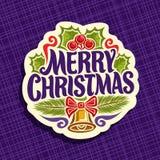 Vektorlogo för julferie Arkivbild