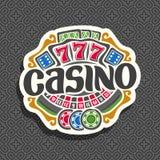 Vektorlogo för kasino Royaltyfri Bild