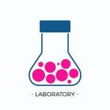 Vektorlogo för laboratorium Vektor Illustrationer