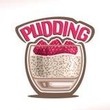 Vektorlogo för pudding Fotografering för Bildbyråer