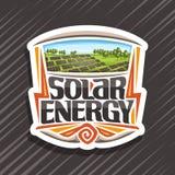 Vektorlogo för sol- energi vektor illustrationer