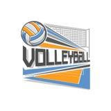 Vektorlogo för volleyboll Arkivbilder