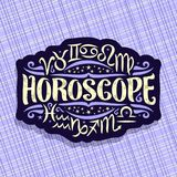 Vektorlogo für Astrologie-Horoskop vektor abbildung