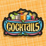 Vektorlogo für Cocktails lizenzfreie abbildung