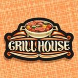 Vektorlogo für Grill-Haus lizenzfreie abbildung