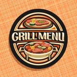 Vektorlogo für Grill-Menü lizenzfreie abbildung