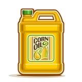 Vektorlogo große Flasche mit Maisöl lizenzfreie abbildung