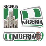 Vektorlogo Nigeria Stockfotografie