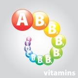 Logoen brännmärker vitaminnäring Arkivfoto