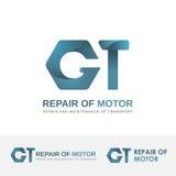 Vektorlogoen för bilreparation shoppar Royaltyfri Fotografi