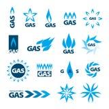 Vektorlogoer av naturgas Arkivbild
