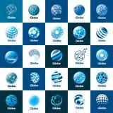 Vektorlogojordklot royaltyfri illustrationer