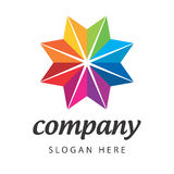 Spektral- blommastjärna för logo Arkivbild