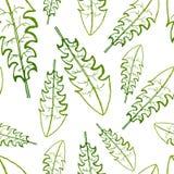 Vektormålning av sömlös modellbakgrund för grönt gräs med den drog handen vektor illustrationer