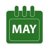 Vektormånad på kalender Arkivbilder