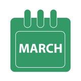 Vektormånad på kalender Royaltyfri Foto