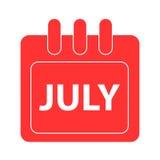 Vektormånad på kalender Arkivfoto