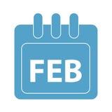 Vektormånad på kalender Royaltyfria Bilder