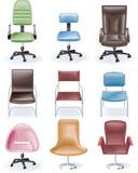 Vektormöbel-Ikonenset. Stühle