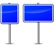 Vektormörker - blå vägvisare Royaltyfri Fotografi