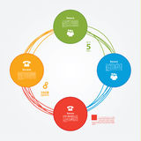 Vektormall. Colorfully plan, orubbligt eller presentation. Crea Royaltyfri Illustrationer