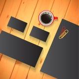 Vektormall för att brännmärka identiteten för presentationer för grafiska formgivare stock illustrationer