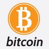 Vektormall för beteckningen av crypto valutabitcoin Arkivfoton