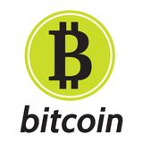 Vektormall för beteckningen av crypto valutabitcoin Royaltyfri Foto