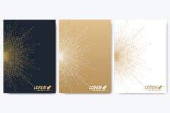 Vektormall för broschyr, broschyr, reklamblad, annons, räkning, katalog, tidskrift eller årsrapport geometrisk bakgrund vektor illustrationer