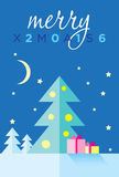 Vektormall för glad jul Arkivbilder