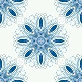 Vektormandala Abstrakter Vektor-dekorative mit Blumengrenze Stockbild