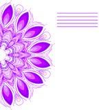 Vektormandala Abstrakter Vektor-dekorative mit Blumengrenze Sie kann für die Verzierung von Hochzeitseinladungen, von Grußkarten, Lizenzfreies Stockbild