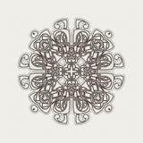 Vektormandala Gotische Spitzetätowierung Keltische Webart mit scharfen Ecken stock abbildung