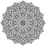 Vektormandala med blom- prydnader Arkivbild