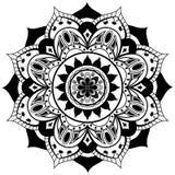 Vektormandala på en vit bakgrund Royaltyfria Bilder