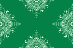Vektormandalaillustration för tyger, anteckningsböcker, kort royaltyfri illustrationer