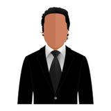 Vektormann in einem schwarzen Anzug lizenzfreies stockfoto