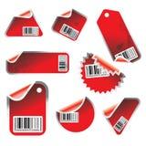 Vektormarke und Aufkleberset Lizenzfreies Stockfoto