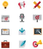 Vektormarketing-Ikonenset Lizenzfreies Stockfoto