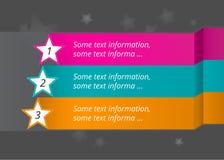 Vektormarkierungen und -sterne mit Nummerierung Lizenzfreie Stockbilder