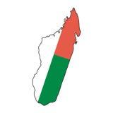 Vektormarkierungsfahne Madagaskar Stockbilder