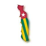 Vektormarkierungsfahne Togo Stockbild