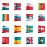 Vektormarkierungsfahnen. Europa, Teil 3 Lizenzfreie Stockfotos