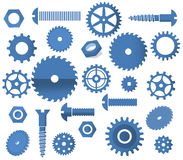 Vektormaterialsymbole (Zahnräder, Kreiss Stockbilder